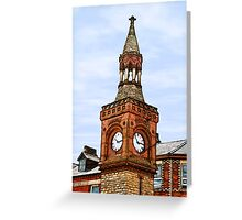 Ormskirk Clock Tower Greeting Card
