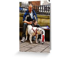 Man & His Dog. Greeting Card
