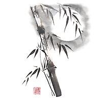 Moon blade bamboo sumi-e painting  Photographic Print