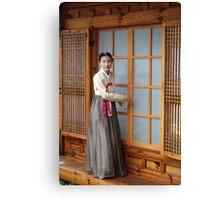 Korean Hanok and Hanbok Canvas Print