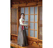 Korean Hanok and Hanbok Photographic Print