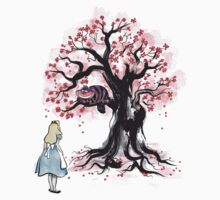 The Cheshire's Tree sumi-e Baby Tee