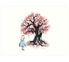 The Cheshire's Tree sumi-e Art Print