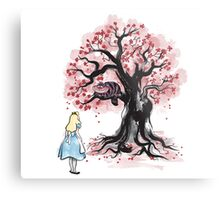 The Cheshire's Tree sumi-e Metal Print