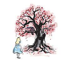 The Cheshire's Tree sumi-e Photographic Print