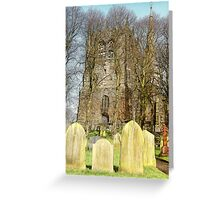 Ormskirk Parish Curch & Graveyard Greeting Card