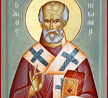 St Nicholas of Myra by ikonographics