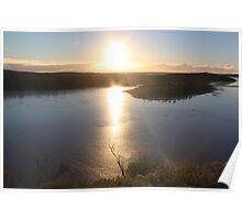 Sunset at Lake Ballard Poster