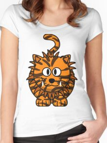 Goofy tiger Women's Fitted Scoop T-Shirt