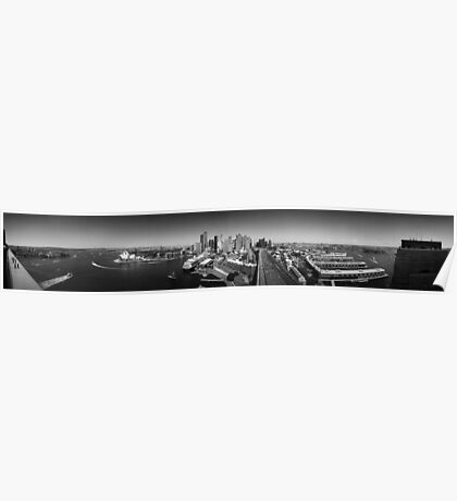 Sydney Harbour and City Panorama Poster
