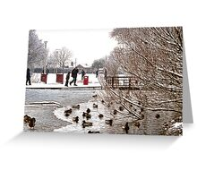 Coronation Park Lake - Ormskirk Greeting Card