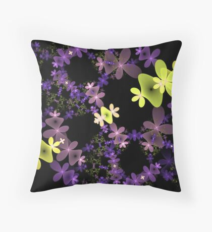 Strange Flowers Throw Pillow