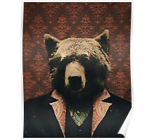 Spencer the Blazer Wearing Bear  Poster
