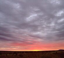 Rainy Day Sunrise, Uluru by MiksPics