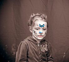 Bella with Facepaint by Samantha Van Stralendorff