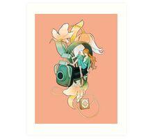 Thumbelina - Peach Art Print
