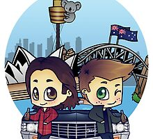 Winchesters in Sydney by bonejangless
