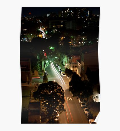 Sydney Streets and Skyline Poster