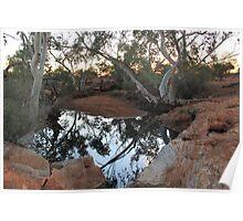 Sunset at Bowanoo Rock Hole Poster