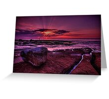 Caught between a rock and a sunrise Greeting Card