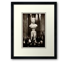 Victorian Lady Statue Bust Framed Print
