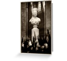 Victorian Lady Statue Bust Greeting Card