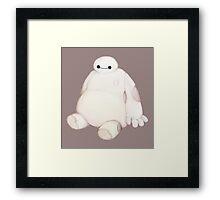 Chubby Marshmallow Man - Baymax Framed Print