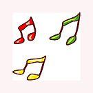 Musical notes by michelleduerden
