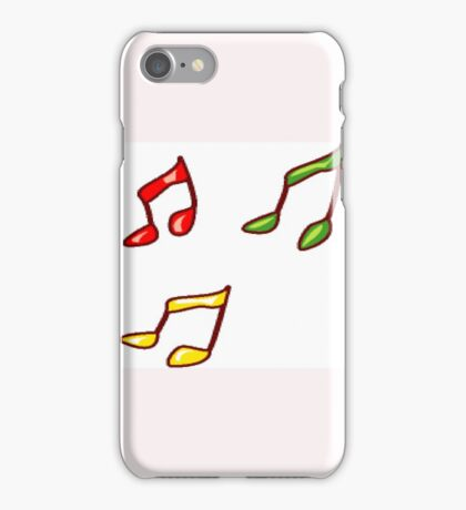 Musical notes iPhone Case/Skin