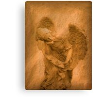 Vintage Angel Thinking of You (with poem) Canvas Print