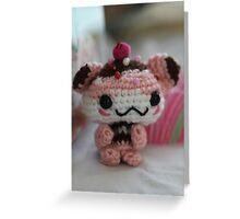 Hamster Cupcake Greeting Card