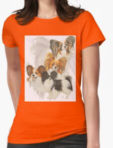Papillon /Ghost Womens Fitted T-Shirt