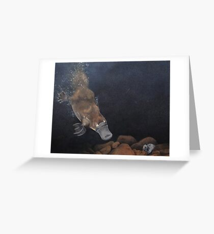 Platypus dive Greeting Card
