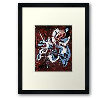 St George Killing the Dragon by Alejandro D Framed Print