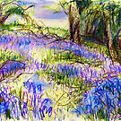 Bluebells by Dolfor Rd, Pen & Pencil Artwork by Linandara