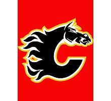 Calgary Flames - On Fire! Photographic Print
