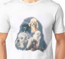 Poodle w/Ghost Image Unisex T-Shirt