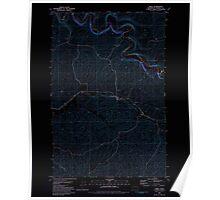 USGS Topo Map Washington State WA Thera 244259 1981 24000 Inverted Poster