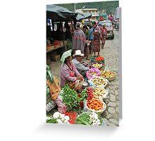 Zunil marketplace Greeting Card