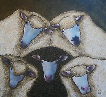 One Ram Four Ewes by Julie  Sutherland