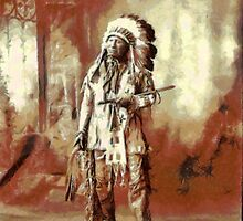 Chief American Horse, Sioux indian ca.1899 by Dennis Melling