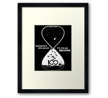The 100 - Hourglass Framed Print
