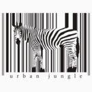 Zebra T-shirt by ArtNouveau