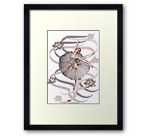 Ribbon Ballet Dancer (Abstract) Framed Print