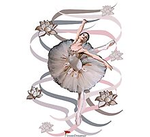 Ribbon Ballet Dancer (Abstract) Photographic Print