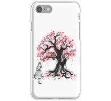 The Cheshire's Tree sumi-e (monochrome) iPhone Case/Skin