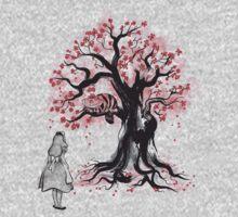 The Cheshire's Tree sumi-e (monochrome) Baby Tee