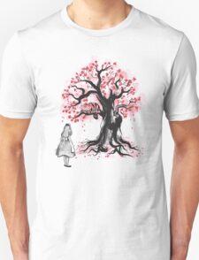 The Cheshire's Tree sumi-e (monochrome) Unisex T-Shirt