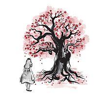The Cheshire's Tree sumi-e (monochrome) Photographic Print