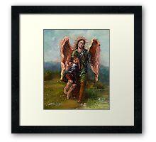 Archangel Raphael with Tobias Framed Print